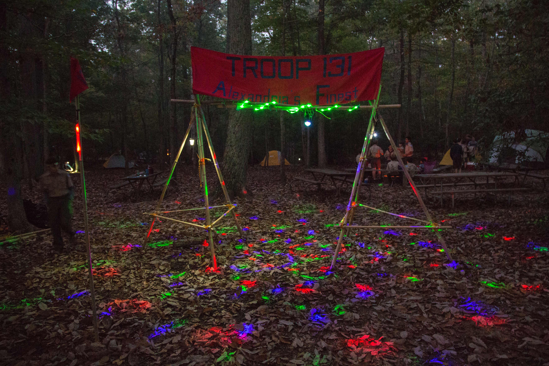 Troop 131 Disco Camp Entrance