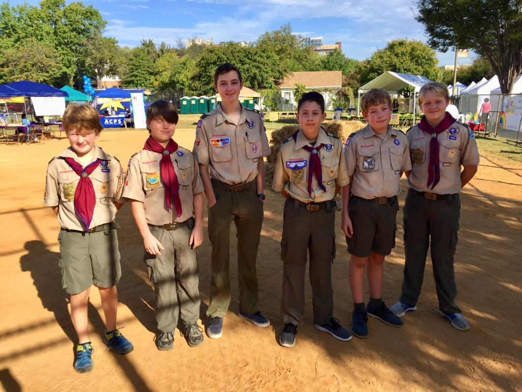 Troop 131 at Art on the Avenue 2017