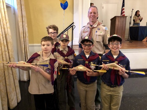 New Scouts from Pack 135!