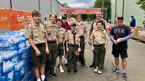 Troop 131 at the 35th Annual Parkway Classic