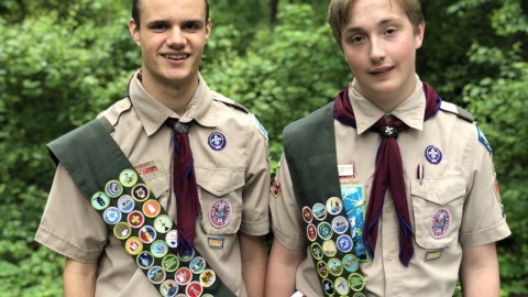 Congratulations to Our Two Recent Eagle Scouts